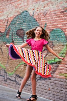Boutique dresses for tweens.  This is the TwirlyGirl Everlasting Dress, because that's how long the smile is good for.  It's reversible.  Click to see the other side!