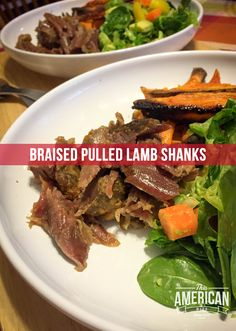 Braised Pulled Lamb Shanks - Perfect for Midnight Munchies - This American Bite Kosher Recipes, Cooking Recipes, Pulled Lamb, Food Sensitivity Testing, Lamb Shanks, Paleo Dinner, Cosmic, Main Dishes, Connection