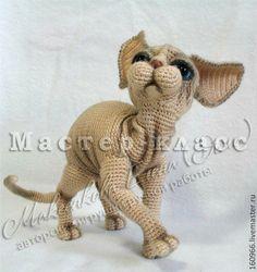 МК по вязанию кота породы Сфинкс - бежевый,кот,кошечка,кошка финкс,Сфинкс