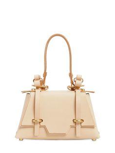 NIELS PEERAER Winged Sister Leather Top Handle Bag, Neutrals