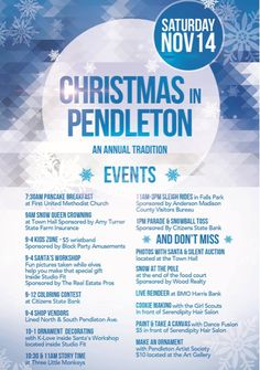 Join us tomorrow for christmas in pendleton