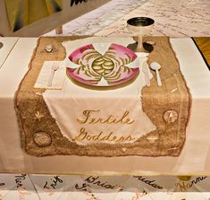 Fertile Goddess place setting, Judy Chicago (American, b. 1939). The Dinner Party, 1974–79. Mixed media: ceramic, porcelain, textile. Brooklyn Museum, Gift of the Elizabeth A. Sackler Foundation, 2002.10. © Judy Chicago. Photograph by Jook Leung Photography