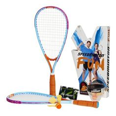 Speedminton The FUN Set is great for the ultimate leisure outdoor game fun with family and the perfect beach game for adults and friends over short distances and at night. The perfect beginner set, as an alternative to badminton, spike ball, and beach ball, includes two original Speedminton rackets that are shorter compared to badminton rackets and are much lighter than tennis rackets. It also includes two innovative birdies, the HELI speeder, and the Fun Speeder. Play this innovative… Best Badminton Racket, Tennis Racket, Best Family Gifts, Best Gifts, Beach Games For Adults, Best Gift For Husband, Best Boyfriend Gifts, Racquet Sports