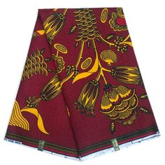 Hw25 Authentic Vlisco Holland Wax Pink Brown Pattern