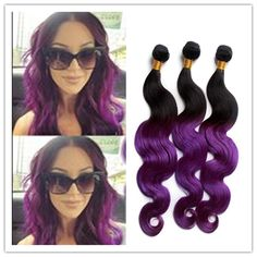 8a Brazilian Virgin Hair Body Wave Ombre Hair Two Tone 1b Purple Ombre Human Hair Weave Peruvian Malaysian Hair 300g/Bundle Hair Extensions Weft Remy Remy Weft Hair From Noblevirginhair, $0.81| Dhgate.Com
