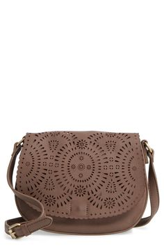 Dakota Faux Leather Saddle Bag