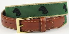 Pant's Best Friend Black #Lab Leather Tab Belt in Green by Country Club Prep    http://www.countryclubprep.com/pant-s-best-friend-black-lab-leather-tab-belt-in-green-by-country-club-prep.html