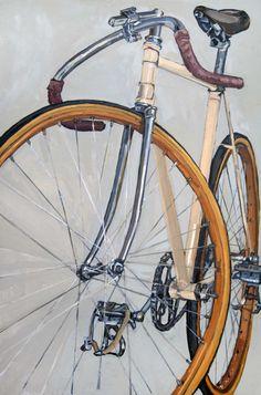 """Bicycle paintings, Taliah Lempert"""