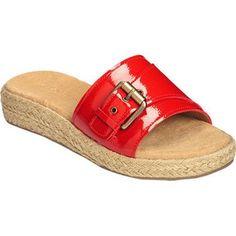 Women's Aerosoles Glorify Slide Sandal Faux Patent (US Women's (Regular))