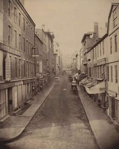 School Street in Boston, photographed by J.J. Hawes, circa 1860s