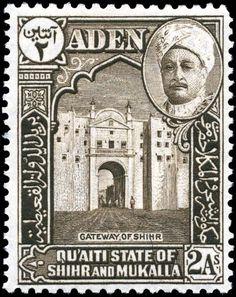 Sello Aden Quaiti Shihr Mukalla 1942 2a - Yemen