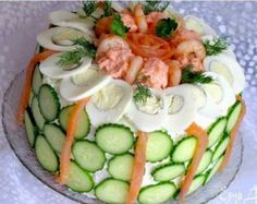 How to Make Wonderful DIY Delicious Sandwich Cake - Cake from Veggies and Seafood . Homemade Sandwich Bread, Sandwich Cake, Ideas Sándwich, Delicious Sandwiches, Food Decoration, Happy Foods, Easy Cake Recipes, Greek Recipes, Party Snacks
