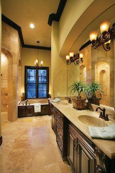 Beige, tan, brown bathroom