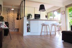 cuisine ouverture et verrière intérieure   contemporain   cuisine  Cuisine Avec Verriere Interieur