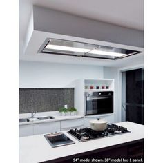 Skylight Ceiling FlushMount Range Hood contemporary kitchen hoods