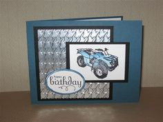 Need For Speed Off Road by – Cards and Paper Crafts at Splitcoaststampers - Geburtstag Cool Birthday Cards, Homemade Birthday Cards, Masculine Birthday Cards, Masculine Cards, Homemade Cards, Birthday Parties, Birthday Crafts, Boy Cards, Kids Cards