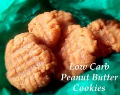 Lo-carb peanut butter cookies- sub Splenda for sugar and enjoy!