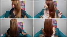 Meu cabelo com Tonalizante C. Kamura Conhaque - Ruiva