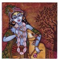 Krishna Painting, Krishna Art, Hare Krishna, Kerala Mural Painting, Indian Art Paintings, Acrylic Paintings, Madhubani Art, Madhubani Painting, Little Krishna