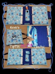 Fabric Handmade Bag Tiptoi + bag + for + my + dwarf Sewing For Kids, Free Sewing, Diy For Kids, Knitting Projects, Knitting Patterns, Sewing Projects, Crochet Tools, Patchwork Bags, Paper Toys