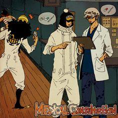 One Piece, Trafalgar Law, Penguin, Ikkaku, Shachi One Piece Meme, One Piece Comic, One Piece 1, One Piece Images, One Piece Pictures, One Piece Fanart, Fanarts Anime, Anime Manga, Pirate Talk