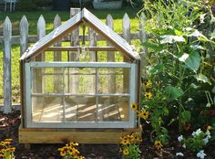We kept all our old windows when we had new ones put in several years ago (also kept old storm/screen doors). I always thought that I'd upcycle the old windows and make a greenhouse out Window Greenhouse, Small Greenhouse, Greenhouse Plans, Greenhouse Gardening, Greenhouse Wedding, Antique Windows, Old Windows, Recycled Windows, Vintage Windows