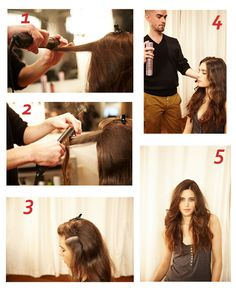 Flat Iron DIY - Hair Straightener Curls, Waves   Baleríny, Úžasné a ...