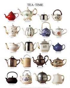 teapots.... my own little collection is still growing.