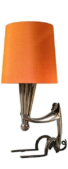 Attibuted to HAGENAUER -  a diminutive, patinated bronze, monkey-motif lamp  Captivating -  excellent design and execution.  (New shade)  Circa 1930
