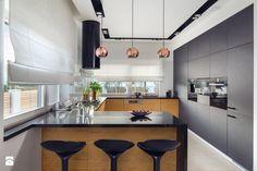 Dom w Rotmance - Średnia zamknięta kuchnia w kształcie litery g z oknem, styl nowoczesny - zdjęcie od Arte Dizain