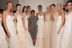Behind the scenes of the Amsale Fall 2015 show with the gowns and the designer, Amsale Aberra.