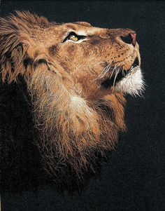 Hand embroidered lion painting- Suzhou embroidery    Wow!