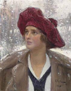 Portrait of Natalia Maksimova by Ilya Yefimovich Repin