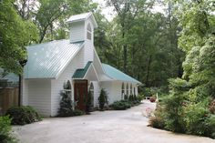 A beautiful, traditional white wood chapel nestled on the Great Smoky National Park. Chapel at the Park, Gatlinburg, TN