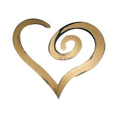 \'Swirl Heart' Hand Painted Dimensional Wall Words Bronze, Gold (125 PLN) ❤ liked on Polyvore featuring home, home decor, wall art, gold, word wall art, home wall decor, gold home decor, calligraphy wall art and gold home accessories