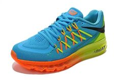Nike Air Max Shoes Womens 2015 New Hot Blue Yellow Orange, $97.73 | www.sneakerswholesaler.com