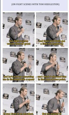 Chris Hemsworth and Tom Hiddleston fight scenes