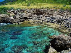 cove at the end of the road, west side, Ohau, Hawaii