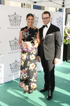 Crown Princess Victoria of Sweden and Prince Daniel attends the annual Polar Music Prize in Stockholm Concert Hall on August 28th, 2013 #AcneSweden