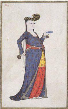 Ottoman Woman by Abdullah Buhari, 18th century, Topkapı Palace Museum