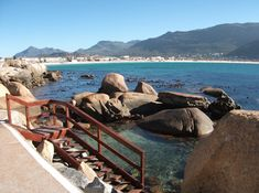 Natural tidal pool by Fish Hoek, South Peninsula, Cape Town, South Africa