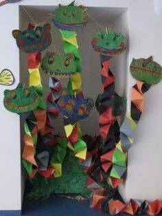 dracs divertits Project 4, Medieval, Crafts For Kids, Projects To Try, School, Techno, Paper Crafts, Initials, Dragons