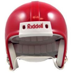 Riddell VSR4 Blank Mini Football Helmet Shell - Cardinal
