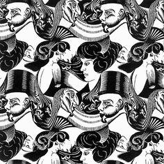 MC Escher (Maurits Cornelis Escher) Eight heads Mc Escher Art, Escher Kunst, Escher Tessellations, Tessellation Patterns, Op Art, Willy Ronis, Woodcut Art, Tesselations, Drawn Art