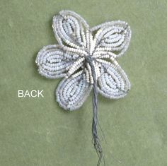 Antique French Beaded Flower