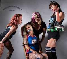 My league, Jersey Shore Roller Girls, modeling for Dr. Sketchy of Asbury Park, NJ and other local artists.