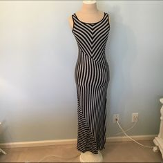 Striped Maxi Dress Runs very small, but is so flattering to shape your body. From Bar III at Macy's. Worn only once for a photoshoot. Bar III Dresses Maxi
