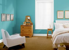 This is the project I created on Behr.com. I used these colors: GINGKO(M390-4),TROPICAL TRAIL(P420-3),AQUA FRESCO(M460-5),HIDDEN SEA GLASS(P450-4),ARUBA BLUE(P480-6),SUMMER DRAGONFLY(M440-4),