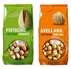 Packaging of the World: Creative Package Design Archive and Gallery: Frutos Secos Hacendado Packaging Snack, Biscuits Packaging, Food Packaging Design, Brand Packaging, Tostadas, Chocolate Packaging, Chips, Dried Fruit, Cookies Et Biscuits