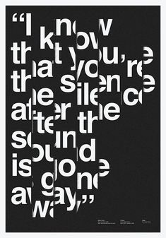 Typographic Poster: Bands of Helvetica.